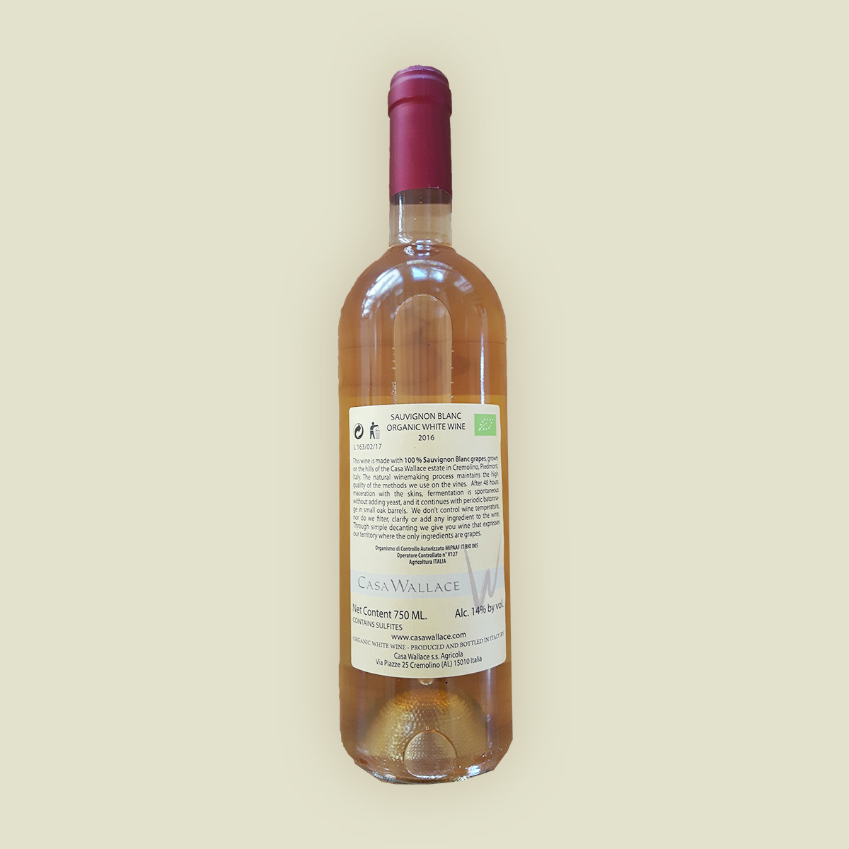 Gold - Casa Wallace Natural White Wine
